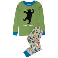 Hatley Boy's Little Blue House Retro Camping Applique Pajama Set