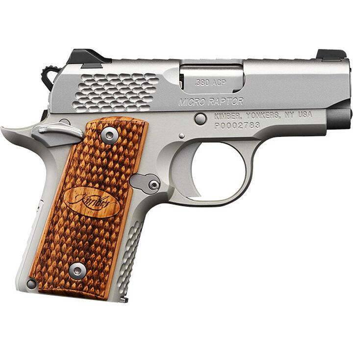 """Kimber Micro Raptor Stainless 380 ACP 2.75"""" 7-Round Pistol"""