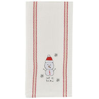 Park Designs Let It Snow Snowpal Embroidered Dish Towel