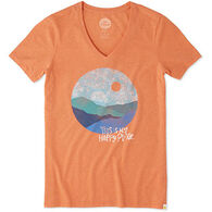 Life is Good Women's Happy Place Cool Short-Sleeve T-Shirt