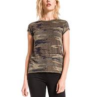Z Supply Women's Camo Cotton Slub Crew Short-Sleeve T-Shirt