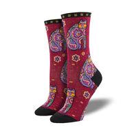 Socksmith Design Women's Laurel Birch Thanks Cat Crew Sock