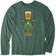 Life is Good Men's Hoppy Camper Cool Tee Long-Sleeve Shirt