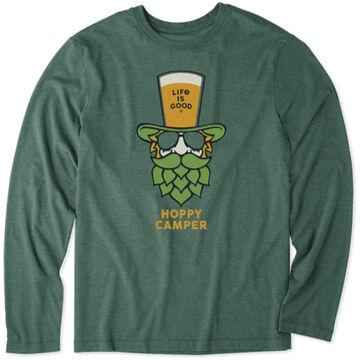 Life is Good Mens Hoppy Camper Cool Tee Long-Sleeve Shirt
