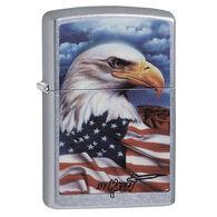 Zippo Mazzi Americana Eagle Street Chrome Windproof Lighter