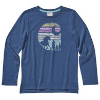 Carhartt Toddler Girl's Heather Graphic Long-Sleeve Shirt