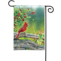 BreezeArt Cardinal Lookout Garden Flag