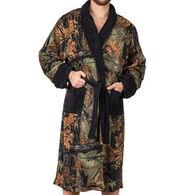 Trail Crest Men's Camo Coral Fleece Robe