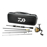 Daiwa D-Vec Carbon Case Executive Pack Travel Spinning Combo