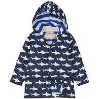 Hatley Boy's Color Changing Shark Frenzy Raincoat
