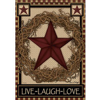 Carson Home Accents Flagtrends Star Wreath Garden Flag