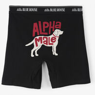 Hatley Little Blue House Men's Alpha Male Boxer Short