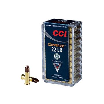 CCI Copper-22 22 LR 21 Grain Copper HP Rimfire Ammo (50)