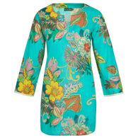 KikiSol Women's Fiji Long-Sleeve Tunic Cover Up