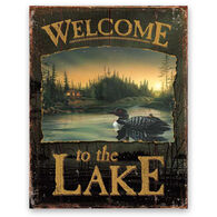 Wild Wings Welcome To The Lake Tin Sign - Loon
