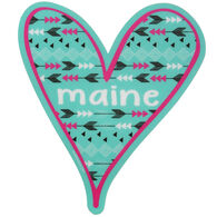 Blue 84 Tribal Heart Maine Sticker