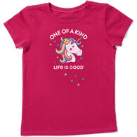 Life is Good Girl's One Of A Kind Unicorn Crusher Short-Sleeve T-Shirt