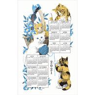Kay Dee Designs 2021 Curious Kittens Calendar Towel