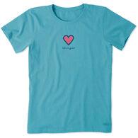 Life is Good Women's Heart Vintage Crusher Short-Sleeve T-Shirt