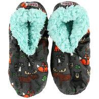 Lazy One Women's Born Wild Fuzzy Feet Slipper