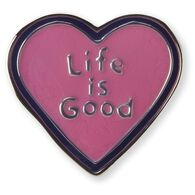 Life is Good Heart Pin