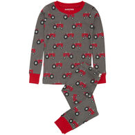 Hatley Boy's Little Blue House Farm Tractors Pajama Set
