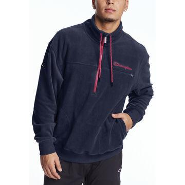 Champion Mens Urban Explorer Fleece 1/4 Zip Script Logo Sweatshirt