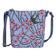 Signare Women's Almond Blossom and Swallow Sling Bag Purse Crossbody Handbag