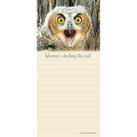 Pumpernickel Press Horned Owlet Magnetic List Notepad