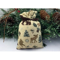 Moosehead Balsam Fir Flannel Moose & Bear Bag