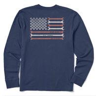 Life is Good Men's Work Hard America Crusher Long-Sleeve T-Shirt