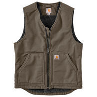 Carhartt Men's Washed Duck Sherpa-Lined Vest