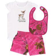Carhartt Infant Girls' Realtree Pink Camo Gift Set, 3-pc