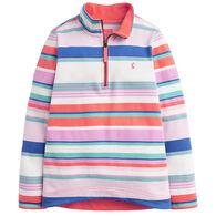 Joules Girl's Fairdale Half-Zip Long-Sleeve Pullover