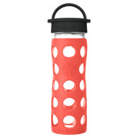 Lifefactory 16 oz. Glass Bottle w/ Classic Cap & Silicone Sleeve