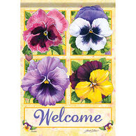 Carson Home Accents Flagtrends Pansy Welcome Garden Flag