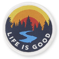 Life is Good Into The Woods Positive Patch