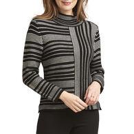 Habitat Women's Mixed Mock Neck Sweater