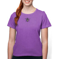 Earth Creations Women's Queen Bee on Organic Cotton Short-Sleeve T-Shirt
