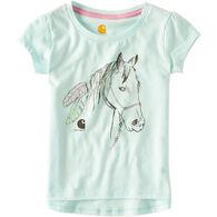 Carhartt Toddler Girls' Feather Horse Short-Sleeve T-Shirt