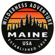 Blue 84 Arciform Pines Maine Sticker
