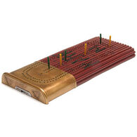 Outside Inside Hunting Shell Cribbage Board