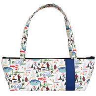 Little Man Women's Maine Print Tomboy Zippered Fabric Handbag