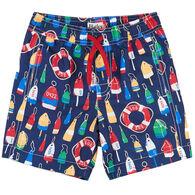 b8d345d04581e Hatley Toddler Boy's Distressed Buoys Swim Trunk