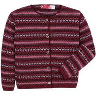 Binghamton Knitting Women's Jacquard Cardigan Sweater