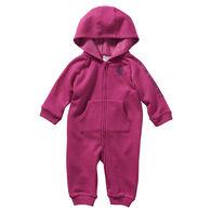 Carhartt Infant Girl's Heather Fleece Hooded Coverall