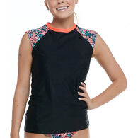 Body Glove Women's Amy Exhale Cross-Over Rash Guard