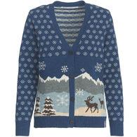 Woolrich Women's Chimney Peak Holiday Motif Cardigan