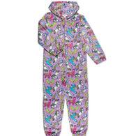 Candy Pink Girl's Rainbow Carnival Pajama Onesie
