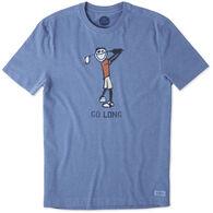 Life is Good Men's Go Long Crusher Short-Sleeve Shirt
